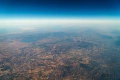 地球天际卫星看法  图库摄影