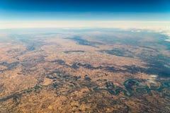 地球天际卫星看法  免版税图库摄影