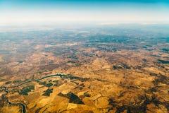 地球天际卫星看法  免版税库存照片