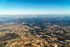 地球天际卫星看法  库存照片