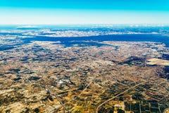 地球天际卫星看法  库存图片