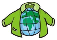 地球夹克 免版税库存照片