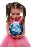 地球女孩藏品 图库摄影