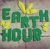 地球小时消息,全世界 图库摄影