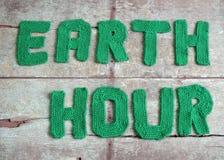 地球小时消息,全世界 库存照片
