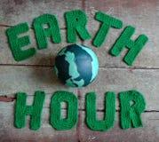 地球小时消息,全世界 免版税库存图片