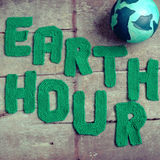 地球小时消息,全世界 库存图片