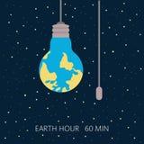 地球小时,我们的行星,生态概念 皇族释放例证