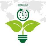地球小时 库存例证