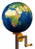 地球帮助需要保障就业权 免版税库存照片