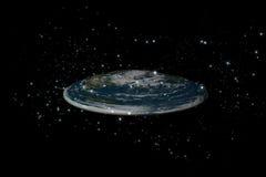 地球平面的里面stars1 库存图片