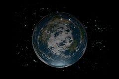 地球平面的里面stars4 图库摄影