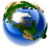 地球微型实际 免版税库存照片