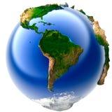 地球微型实际 库存例证