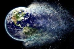 地球微粒-由美国航空航天局的地球纹理 gov. 免版税库存图片