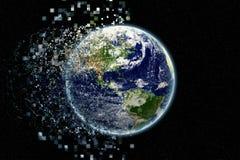 地球微粒-由美国航空航天局的地球纹理 gov. 库存图片
