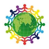 地球徽标人 库存照片