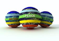 地球徽标没有和平战争 免版税库存图片