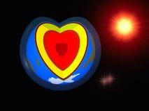 地球心脏爱 向量例证