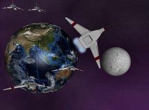地球战斗机巡逻 图库摄影