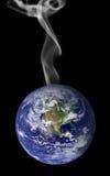 地球抽烟 图库摄影