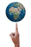 地球指向 免版税库存图片