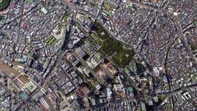 地球放大在东京日本之外的徒升 股票录像