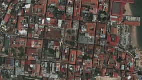 地球放大在巴拿马市之外的徒升 股票录像
