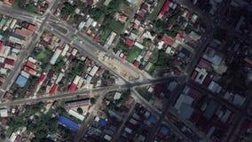 地球放大在帕拉马里博苏里南之外的徒升 影视素材