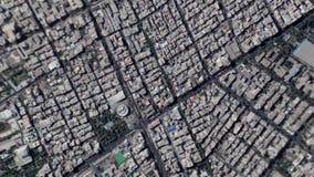 地球放大在德黑兰伊朗之外的徒升 影视素材