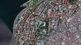地球放大在苏丹・艾哈迈德清真寺伊斯坦布尔土耳其之外的徒升 股票录像