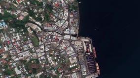 地球放大在苏瓦斐济之外的徒升 股票录像