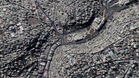 地球放大在阿曼约旦之外的徒升 股票视频