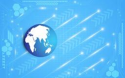 地球数字式电抽象背景 免版税图库摄影