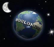 地球新闻世界 库存照片