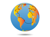 地球旅行计划 免版税图库摄影