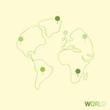 地球旅行,例证 免版税图库摄影