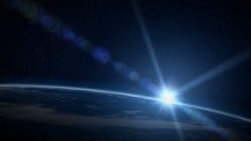 地球日出 皇族释放例证