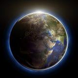 地球日落 免版税库存图片