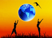 地球日 库存图片
