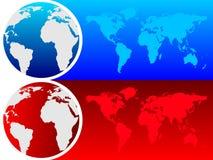 地球映射世界 免版税库存图片