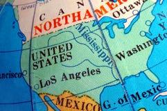 地球映射小的地球美国 免版税图库摄影