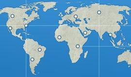 地球映射点 免版税库存图片