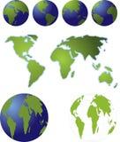 地球映射 免版税图库摄影