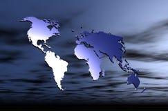 地球映射 皇族释放例证