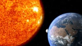地球月亮太阳 库存例证