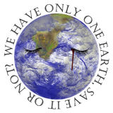 地球有一 免版税库存照片