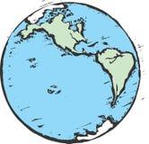 地球木刻 免版税图库摄影