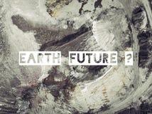 地球未来 露天开采矿沙子鸟瞰图在波兰 免版税图库摄影