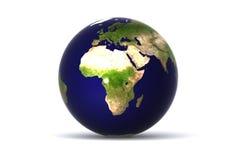 地球查出的欧洲 库存照片